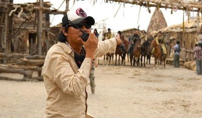 Kim Ji-woon on the set of The Good, The Bad, The Weird