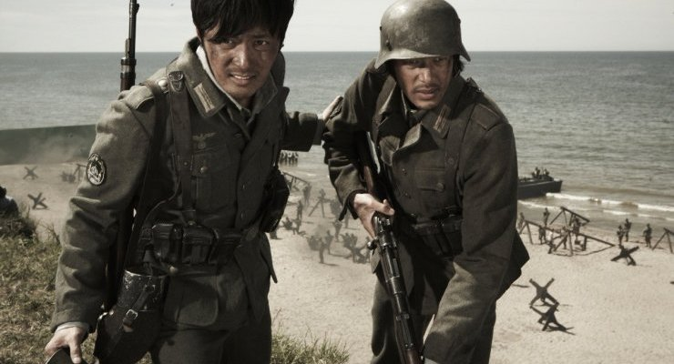 On the beaches of Normandy, Joon-sik and Tatsuo do all they can to survive