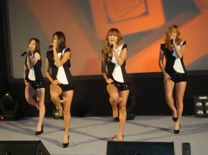 Sistar performed some of their hits and dance routines to an adoring crowd