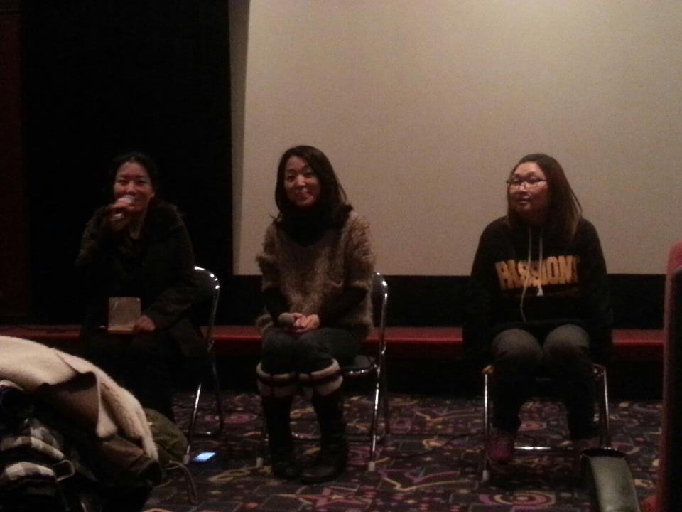 The Indieplus translator kindly facilitated the discussion with director Paik Yeon-ah and star Hyung-sook (형숙)