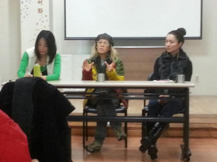 Director Kyung Soon answers questions from the audience