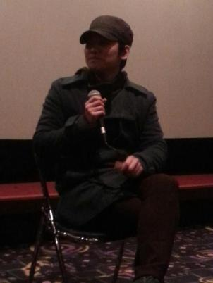 Director Kim addressed the audience in English, thanking them for attending