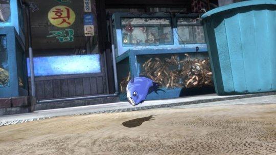 Padak attempts to flee the sushi restaurant