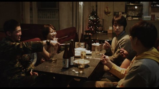 The three friends meet pretty tea house worker Mi-yeon