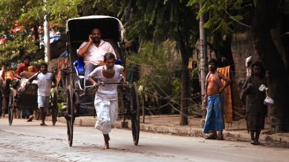 My Barefoot Friend depicts the life of rickshaw workers in Calcutta