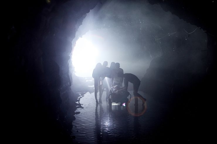 The friends attempt to ditch a body in the tunnels. leading to macabre events