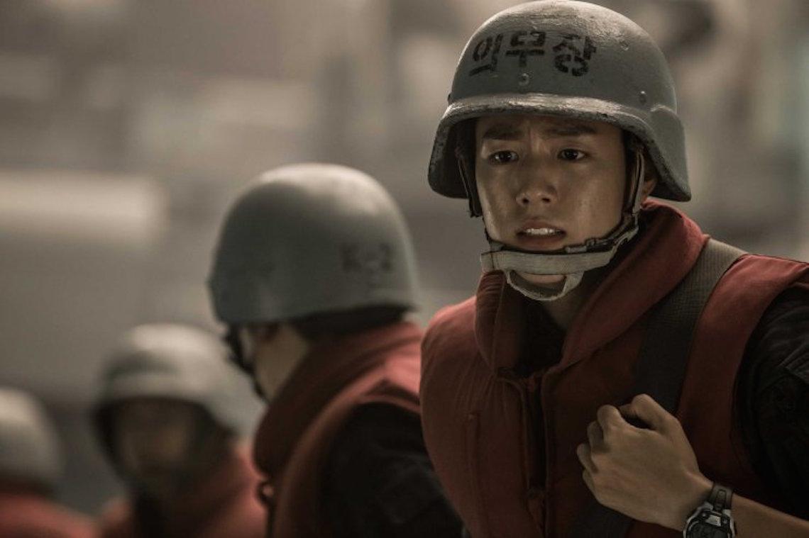 Medic Dong-hyeok prepares to battle the grimacing North Korean navy