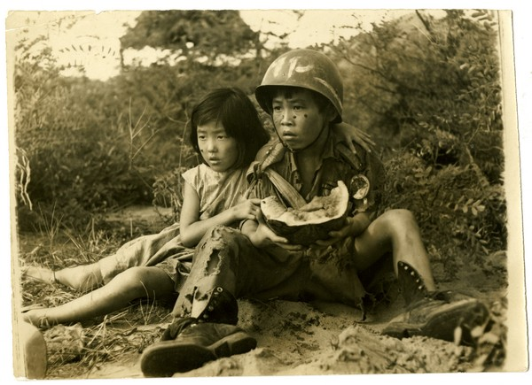 Two children become lost in the DMZ during conflict